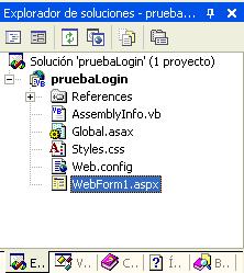 Figura 1. La solución recién creada