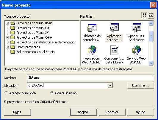 """"""" Pocket PC"""" como plataforma dedesarrollo, y """"Aplicación ..."""
