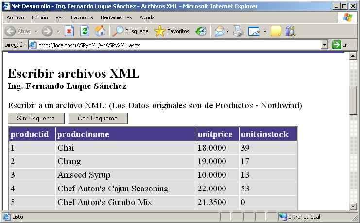leer archivos xml: